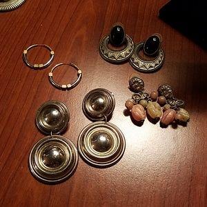 Fun bundle lot 4 pair pierced earrings